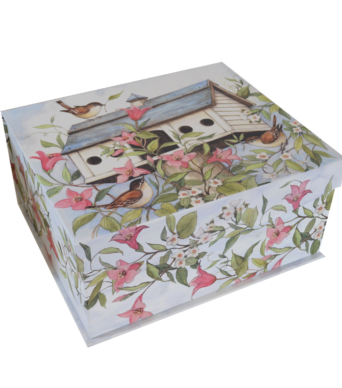 Organizing Essentials Large Flip Top Box-Birdhouse & Flowers