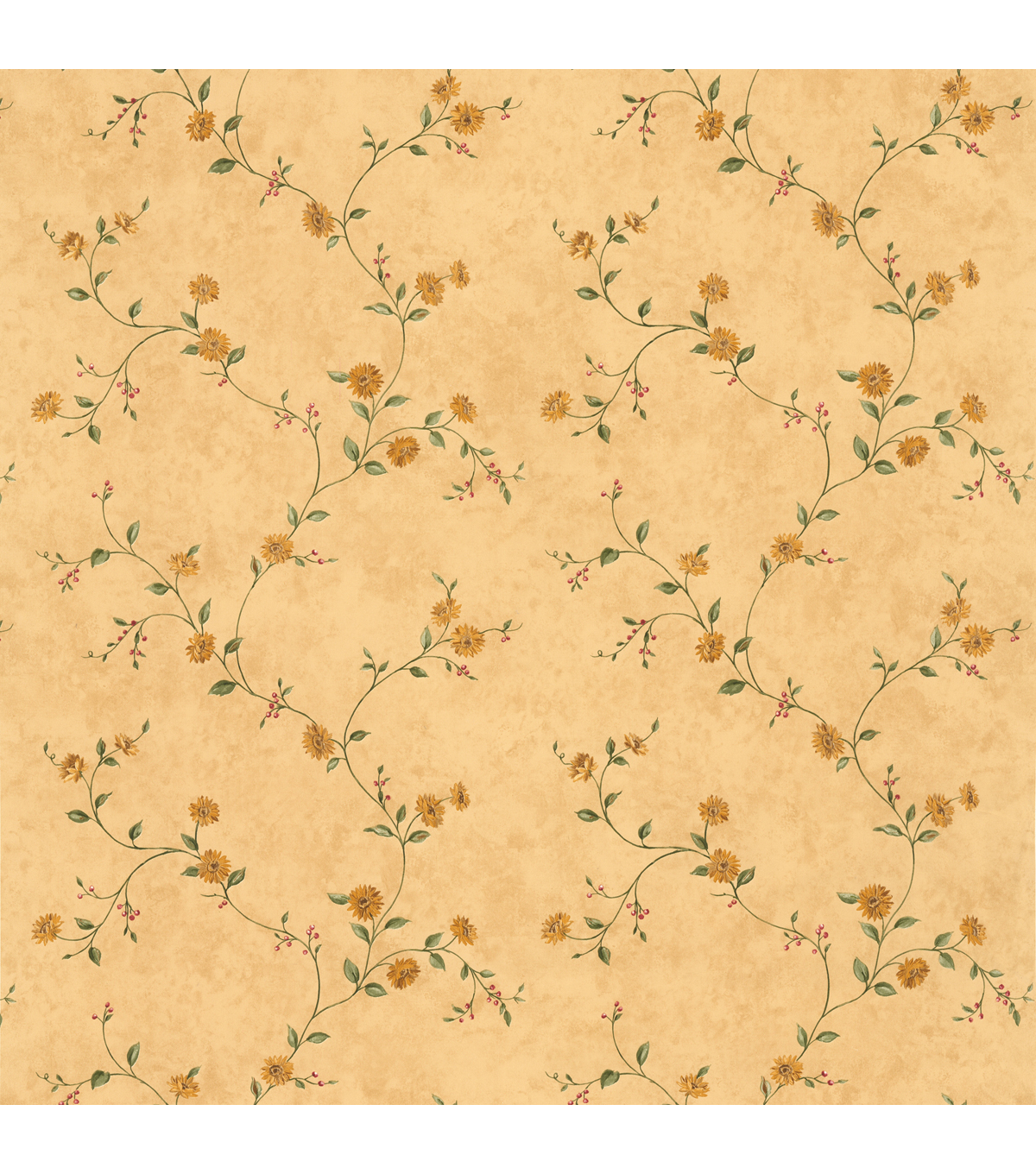 Maisy Beige Floral Trail Wallpaper Sample