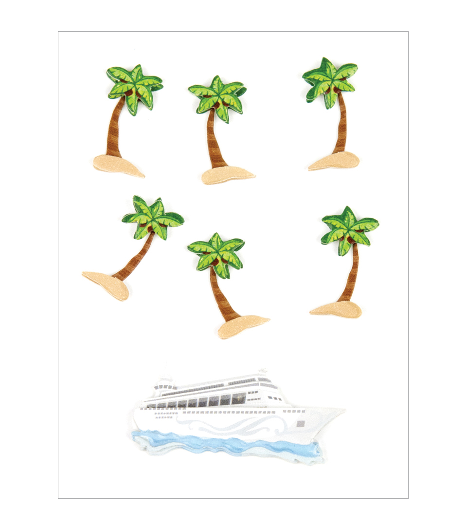 PALM TREES AND CRUISE SHIPS