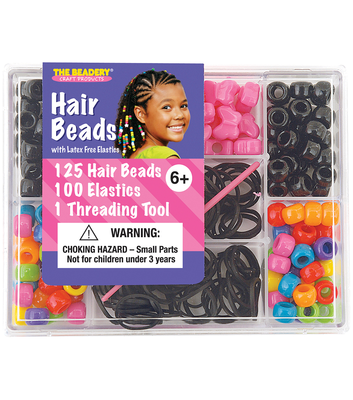The Beadery Small Hair Bead Kit-Circus
