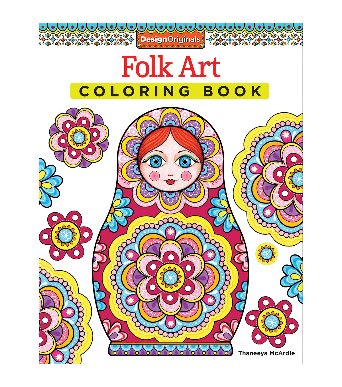 Adult Coloring Book Design Originals Folk Art