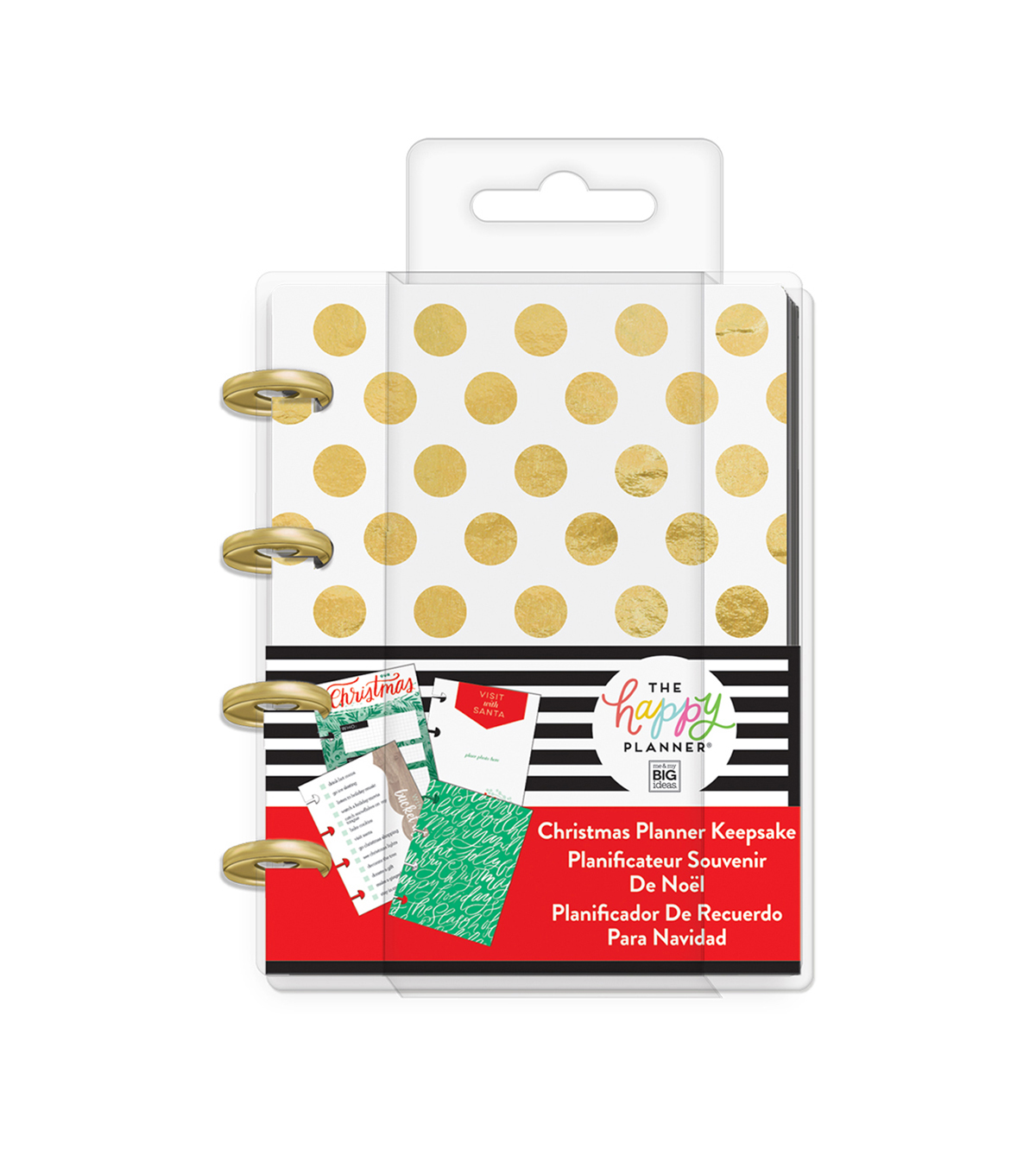 The Happy Planner Christmas Mini Keepsake Planner-Gold Dots