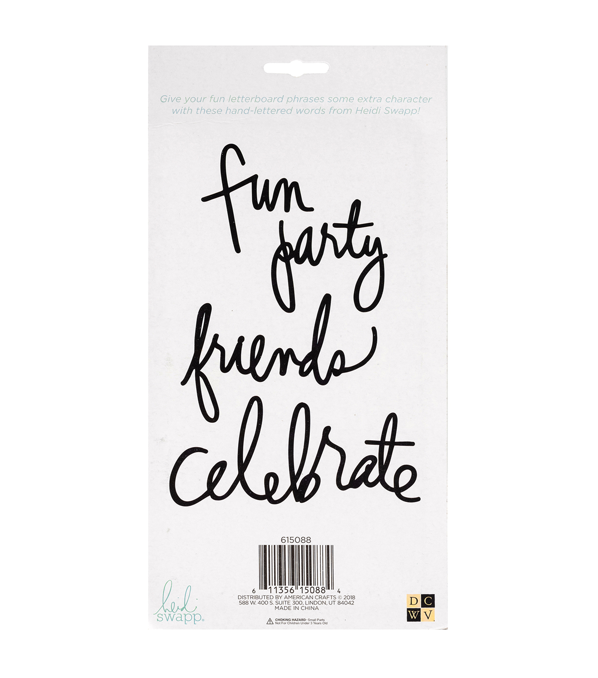 DCWV Heidi Swapp Word Phrases-Party