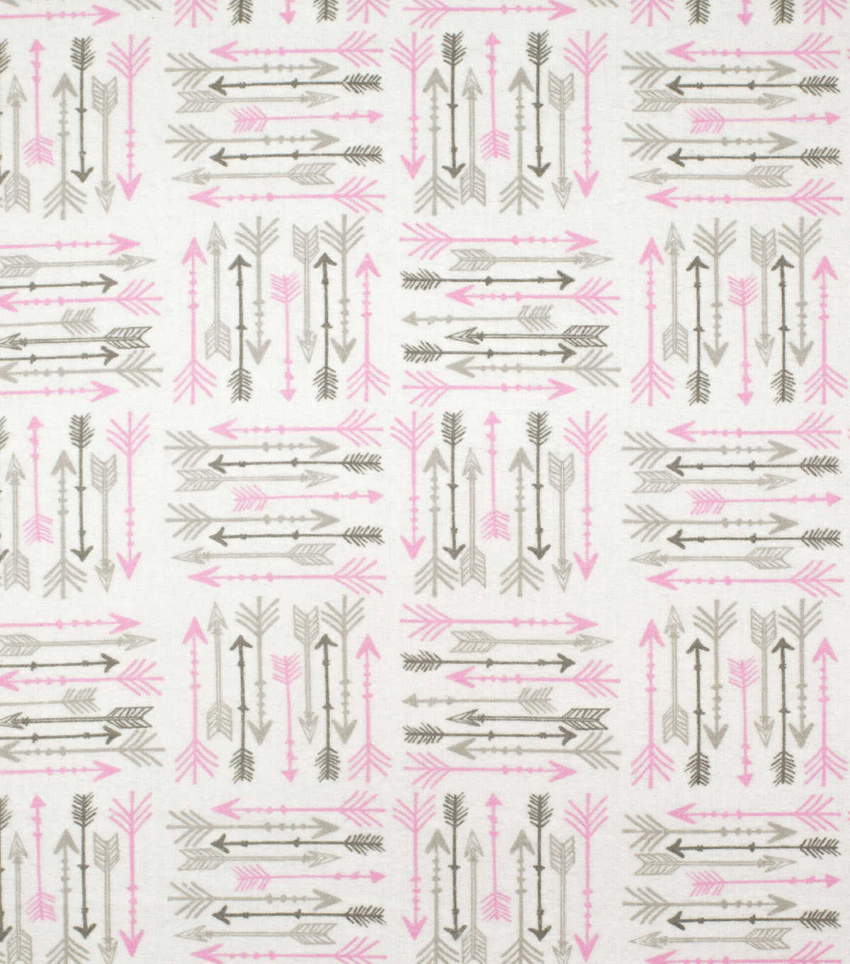 Super Snuggle Flannel Fabric-Pink & Gray Arrows