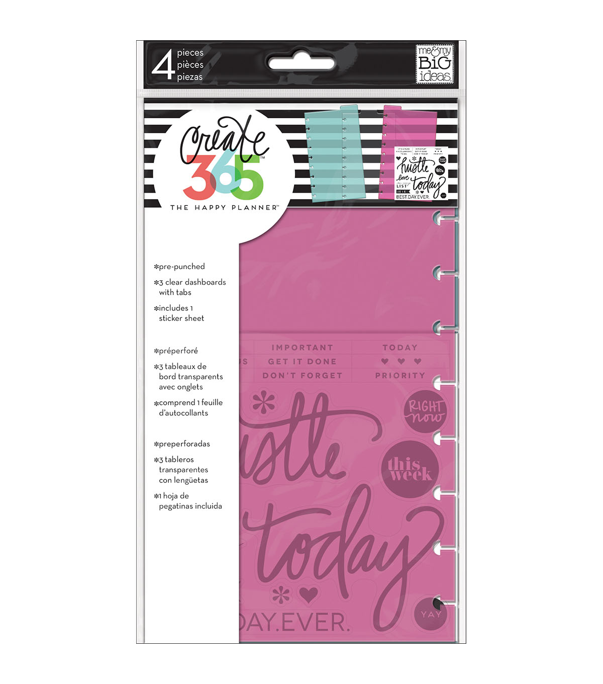 The Happy Planner Medium Dashboards with Tabs & Sticker Sheet