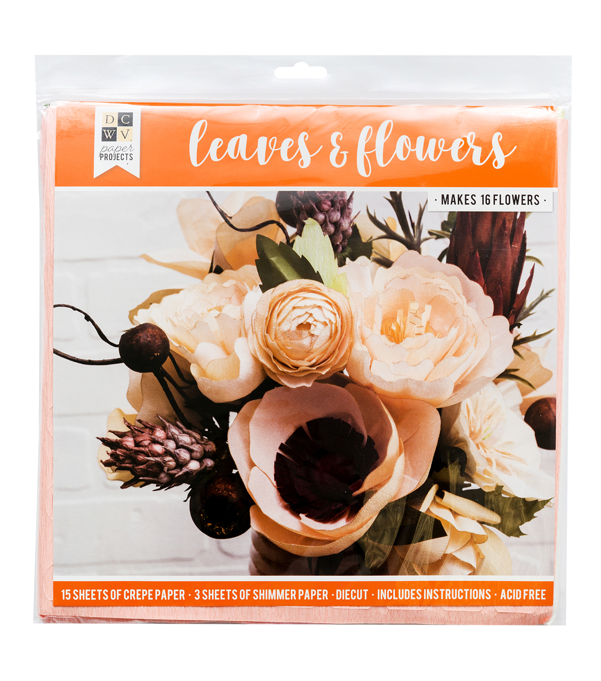 DCWV Halloween Paper Projects-Fall Flowers