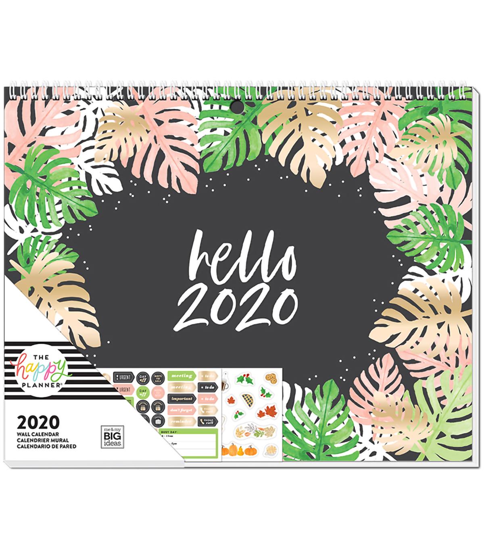 Nba Calendrier 2020.The Happy Planner 2020 Wall Calendar Seasonal