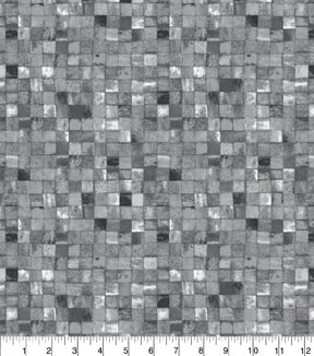 Keepsake Calico Cotton Fabric 43\u0022-Grey Mosaic