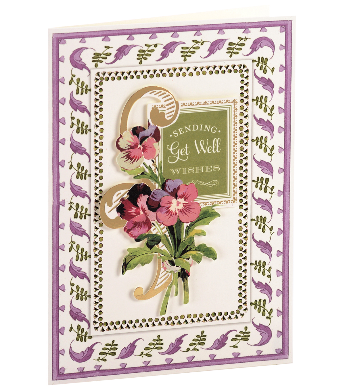 Anna Griffin Card Kit Get Well Soon Painted