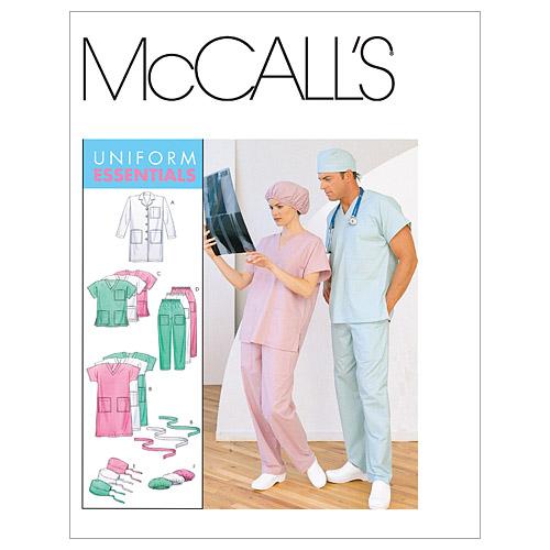 Misses'Men's Lab Coat Dress Top PullOn Pants Hats And SMMED Impressive Mens Coat Patterns