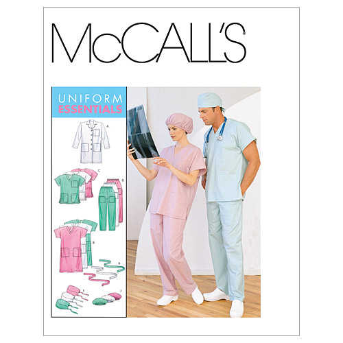 McCall\u0027s Patterns M6107 Adult Lab Coat & Scrubs-Size XL-XXL