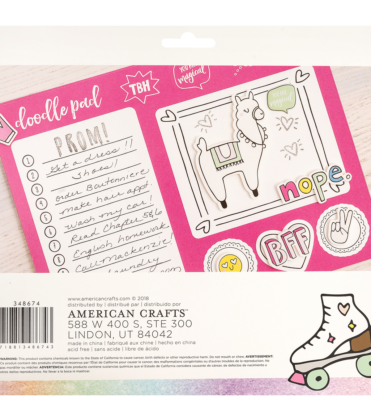American Crafts Hello Dreamer 50-sheet Doodle Paper Pad