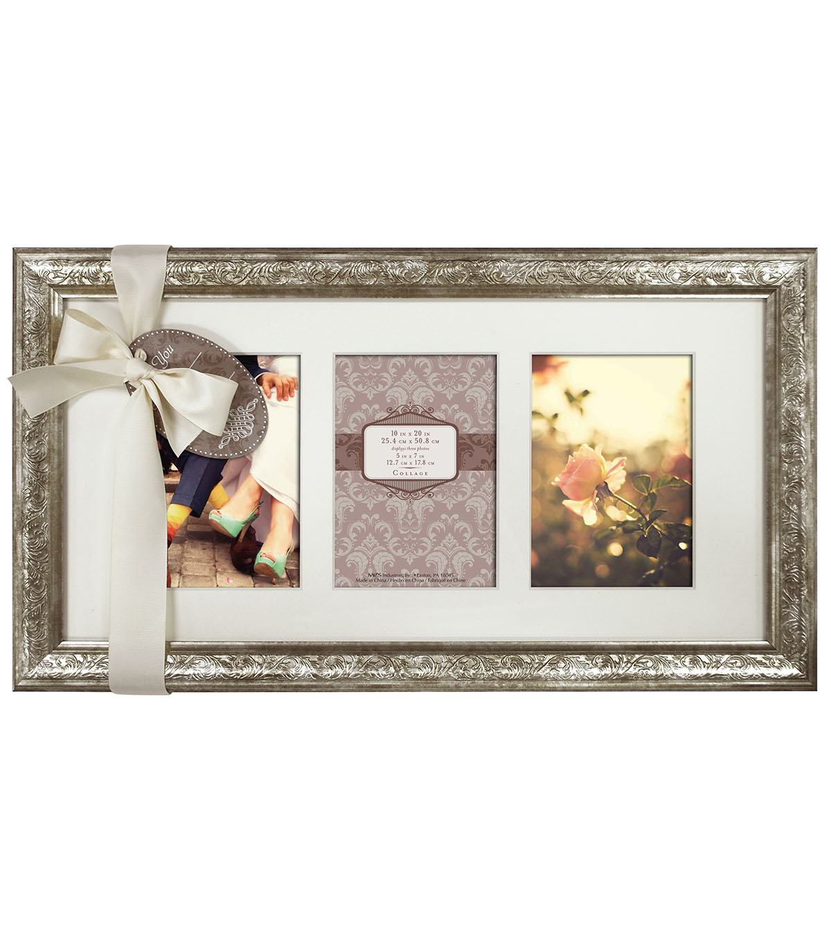 Wall Frame 10X20 3 5X7 Opening-Champagne Shimmer