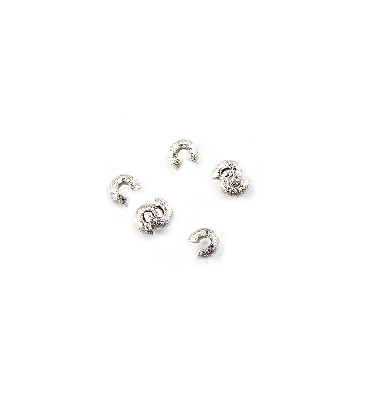 Blue Moon Findings Crimp Cover Metal 3mm Stardust Silver