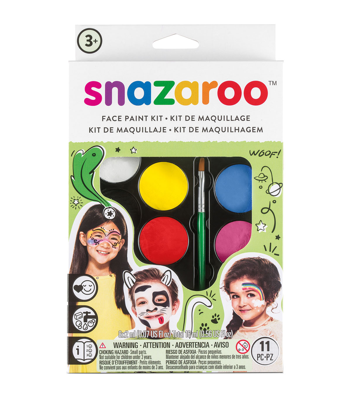 Snazaroo Face Painting Kit-Rainbow
