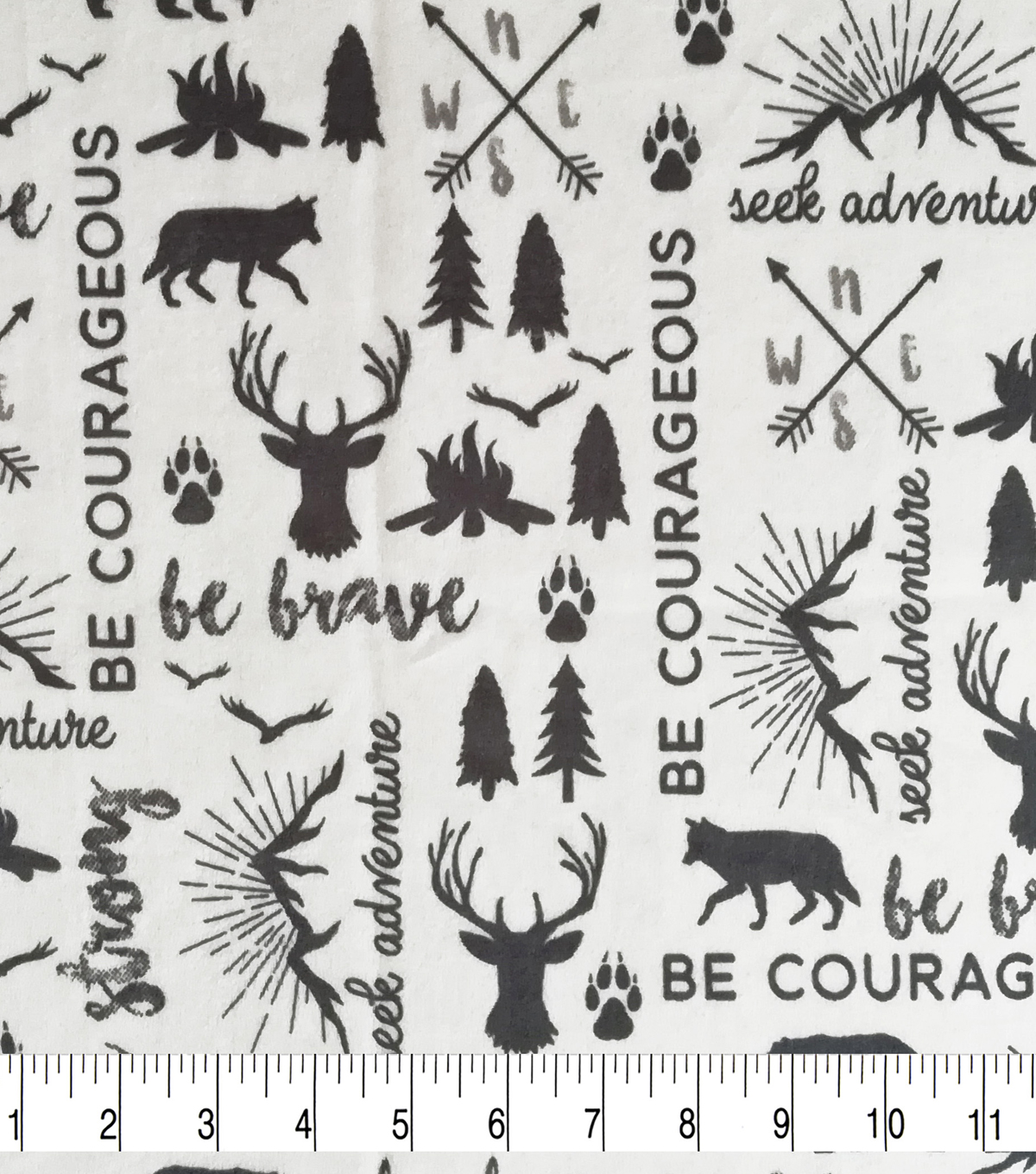 Soft & Comfy Fleece Fabric-Wilderness Maps