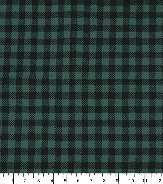 a221e51cac4 Keepsake Calico Cotton Fabric-Buffalo Check Green & Black   JOANN