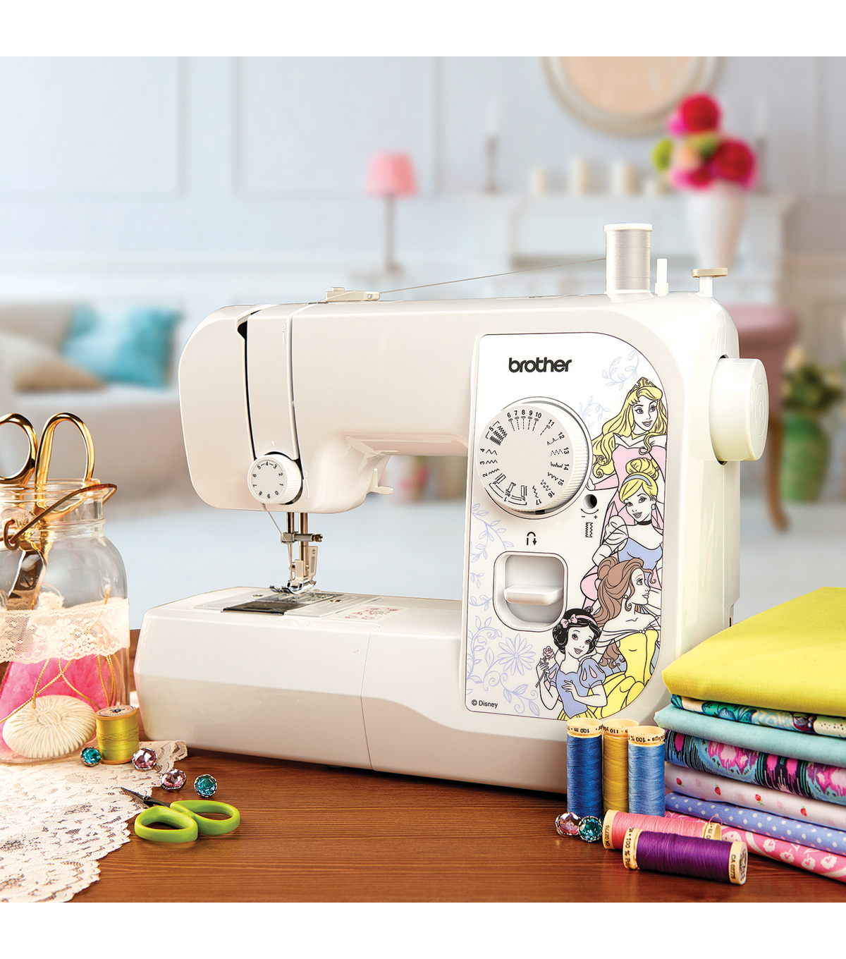 Brother SM1738D Sewing Machine With Disney Interchangeable Plates
