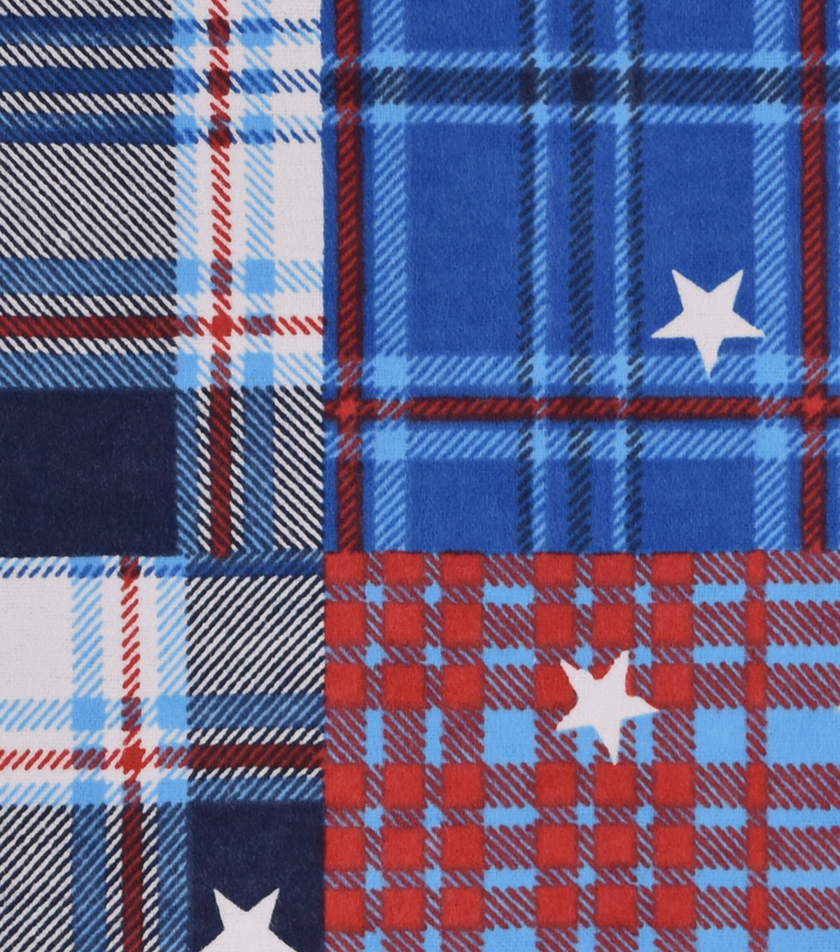 Snuggle Flannel Fabric -Patriotic Madras Plaid