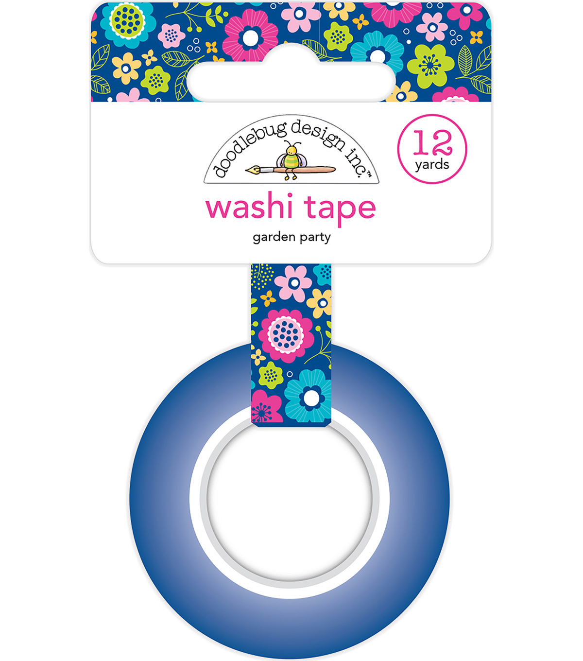 Doodlebug Design Washi Tape 0.5\u0027\u0027x12 yds-Garden Party