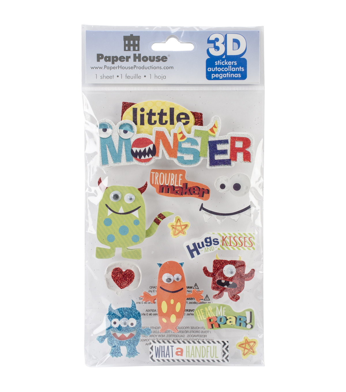 Paper House 3D Stickers-Little Monster