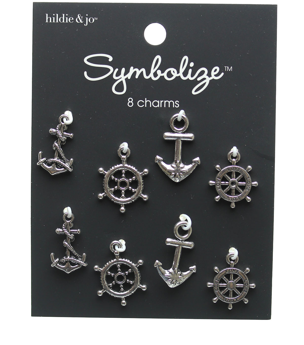 hildie & jo 8 pk Nautical Charms-Silver
