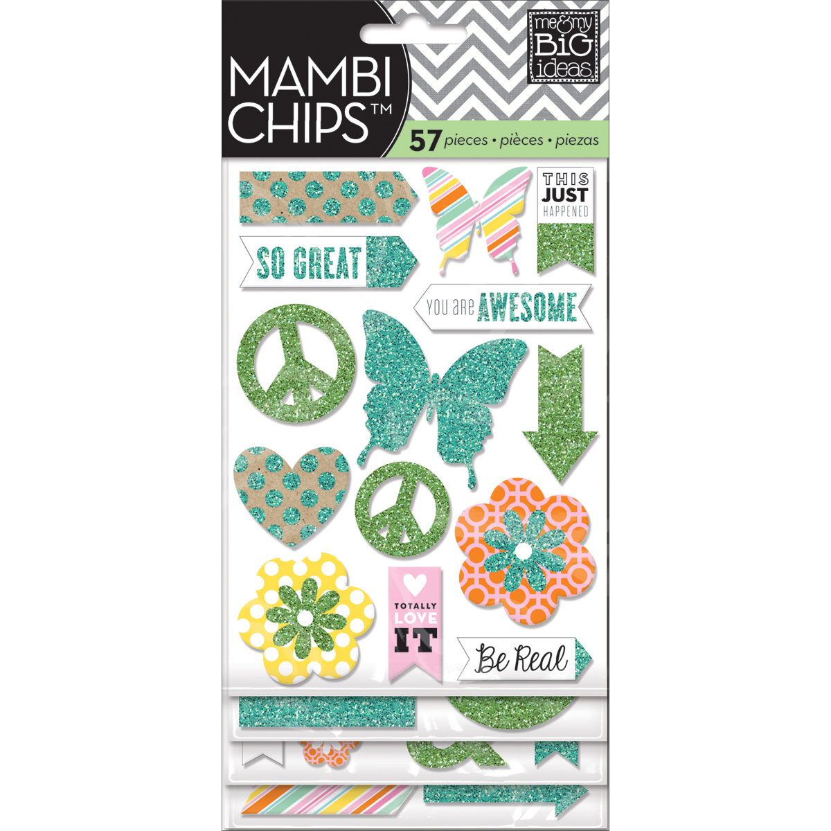 Me & My Big Ideas Mambi Chipboard Stickers You Are Awesome