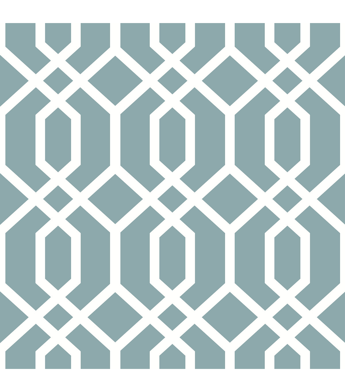 Wallpops Nuwallpaper Peel & Stick Wallpaper-Blue Montauk Lattice Hemlock