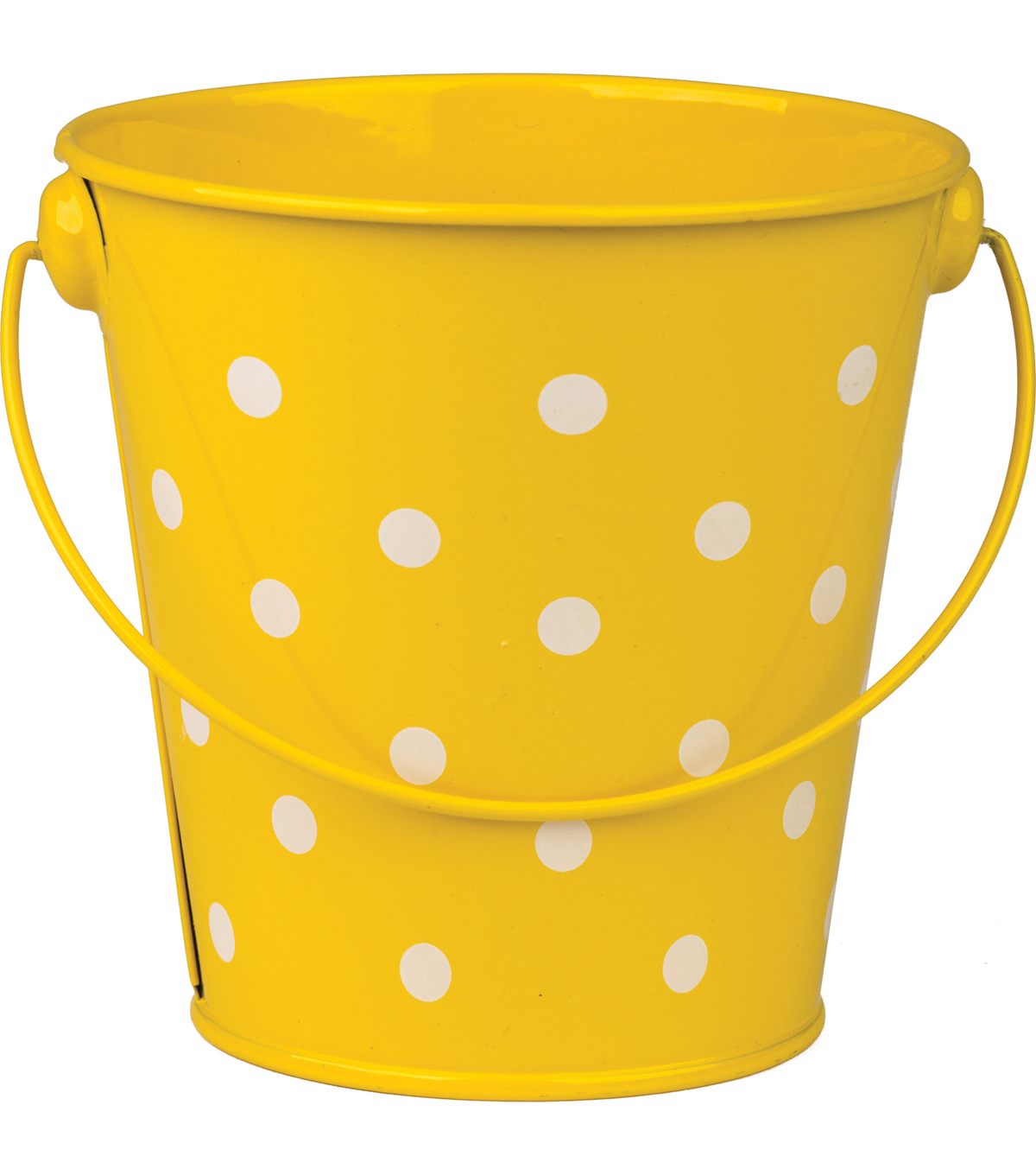 Teacher Created Resources Polka Dots Bucket, Yellow Pack of 6