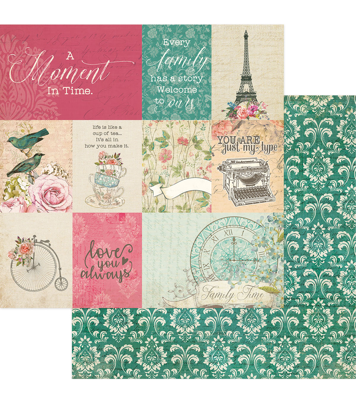 Photoplay Paper Moments in Time 12\u0027\u0027x12\u0027\u0027 Double-Sided Cardstock-Moment