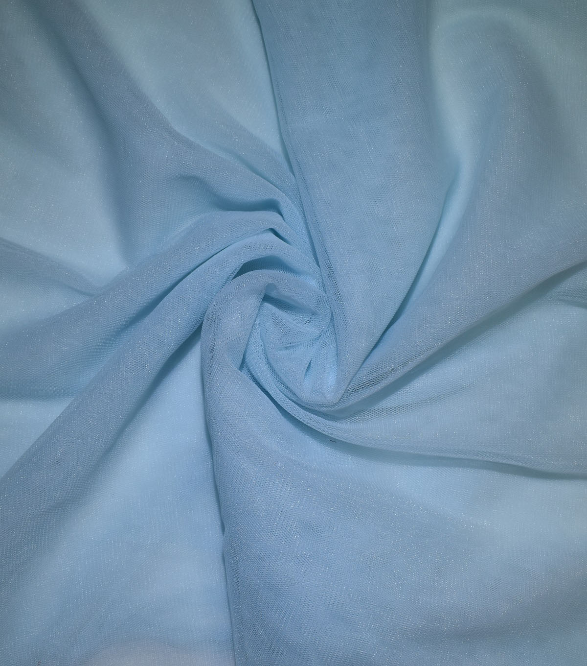 Casa Collection Solid Tulle Fabric 57\u0027\u0027, Icy Blue