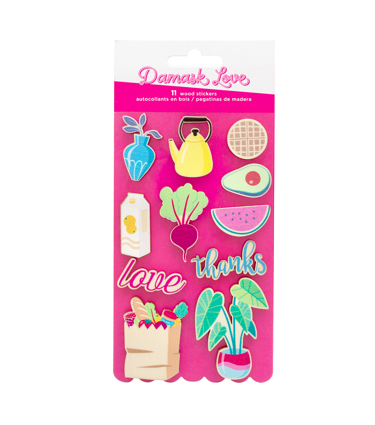 American Crafts Damask Love Wood Stickers