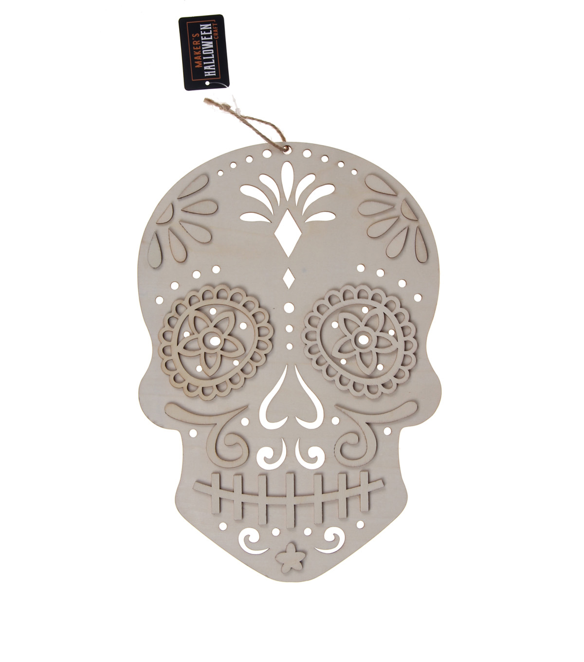 Makers Halloween Craft 8x032 Wooden Sugar Skull Day Of The Dead