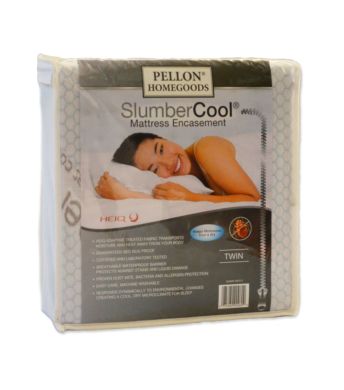 Pellon Slumber Cool Mattress Encasement Twin 39\u0022 X 75\u0022