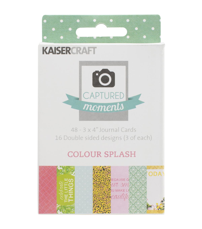 kaisercraft captured moments colour splash double sided cards 3 x4