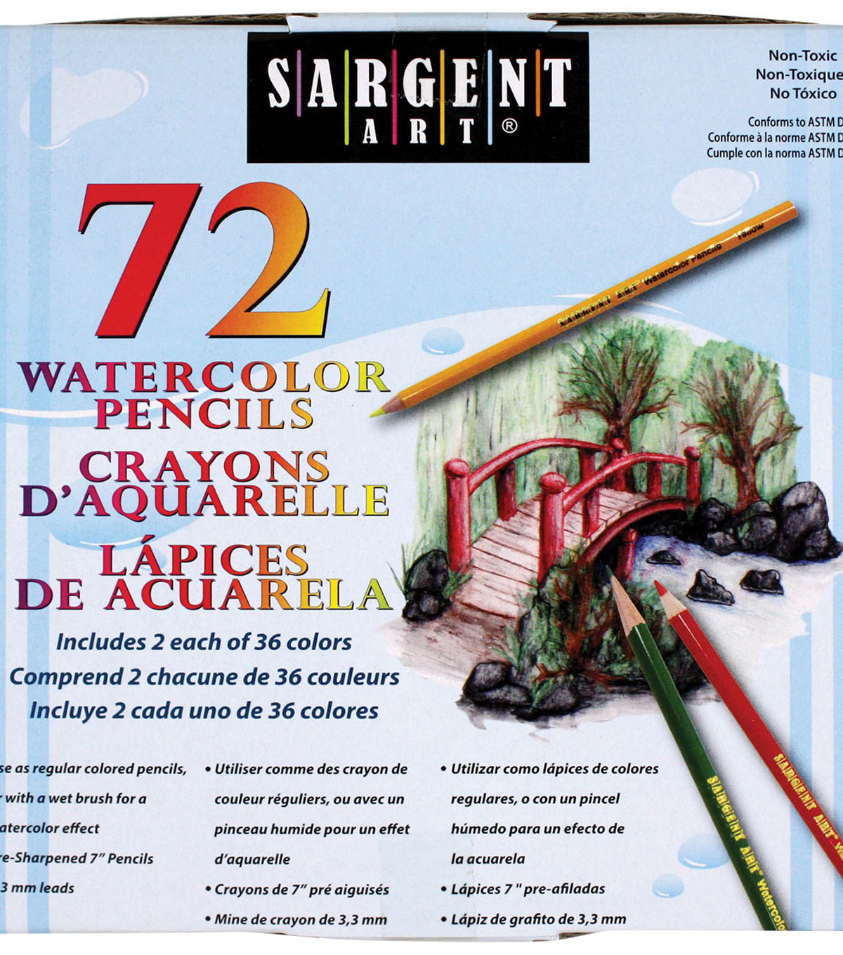Sargent Art Watercolor Pencils 72 Pack