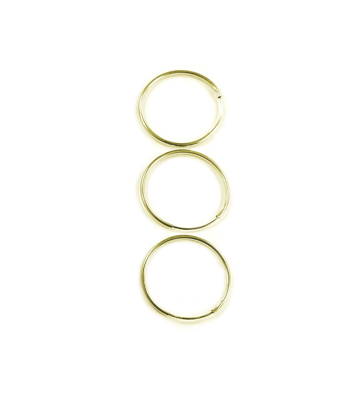 Blue Moon Findings Ear Hoop Metal Endless 25mm Gold