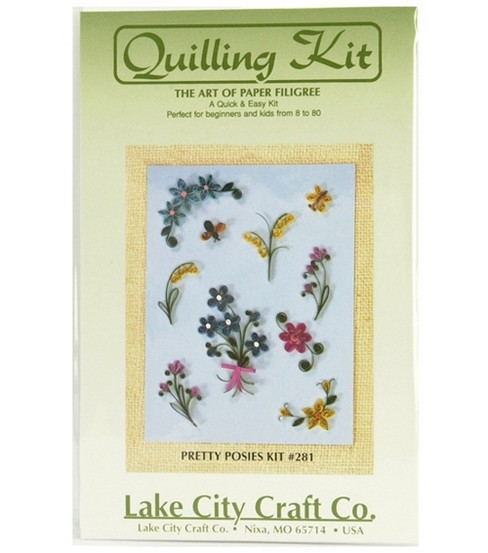 Quick & Easy Quilling Kit-Pretty Posies