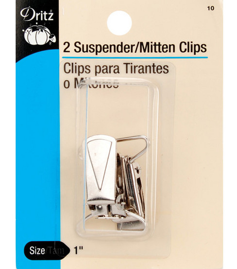 Prym Dritz Mitten/Suspender Clips, Nickel
