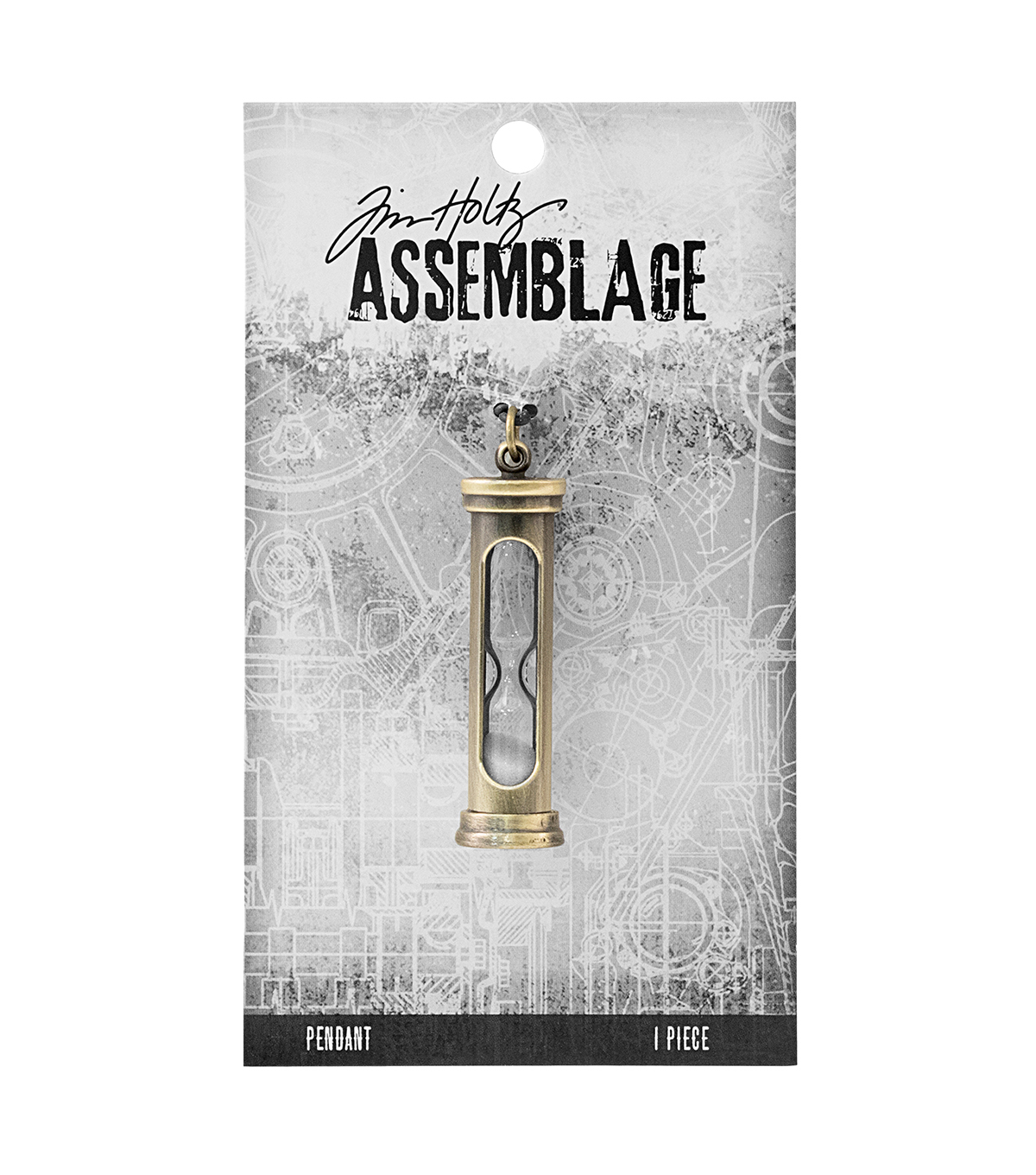 Tim Holtz Assemblage Hourglass Pendant