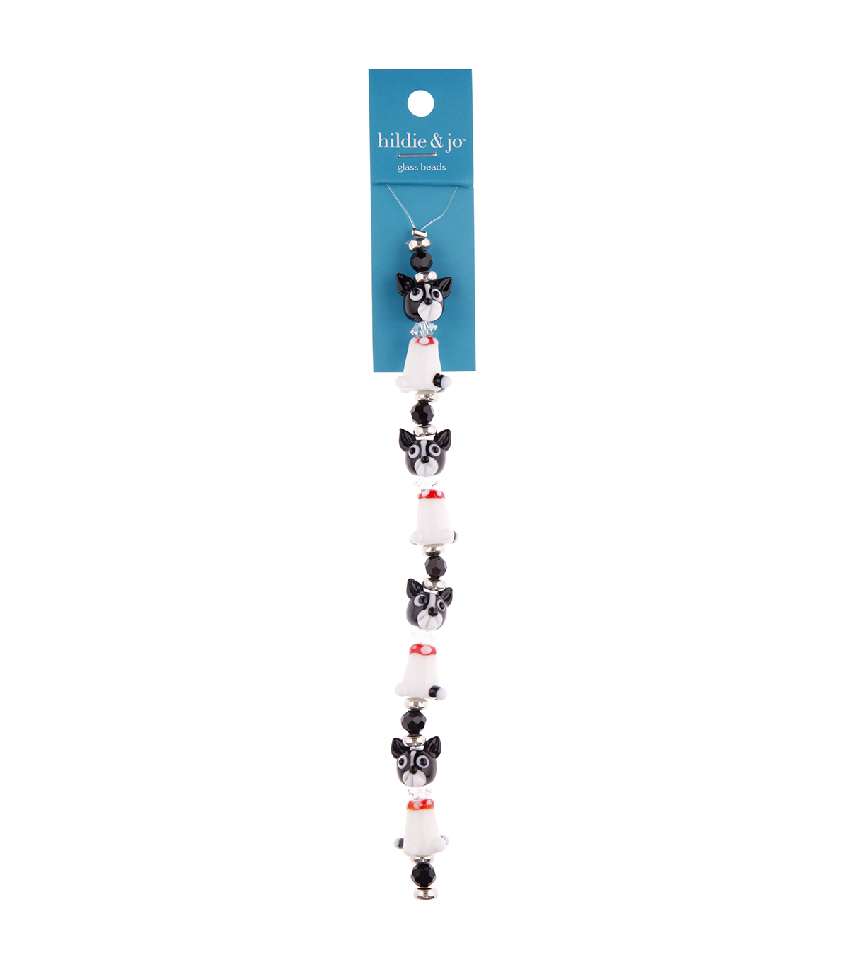 hildie & jo 7\u0022 Crystal Glass Dog Strung Beads