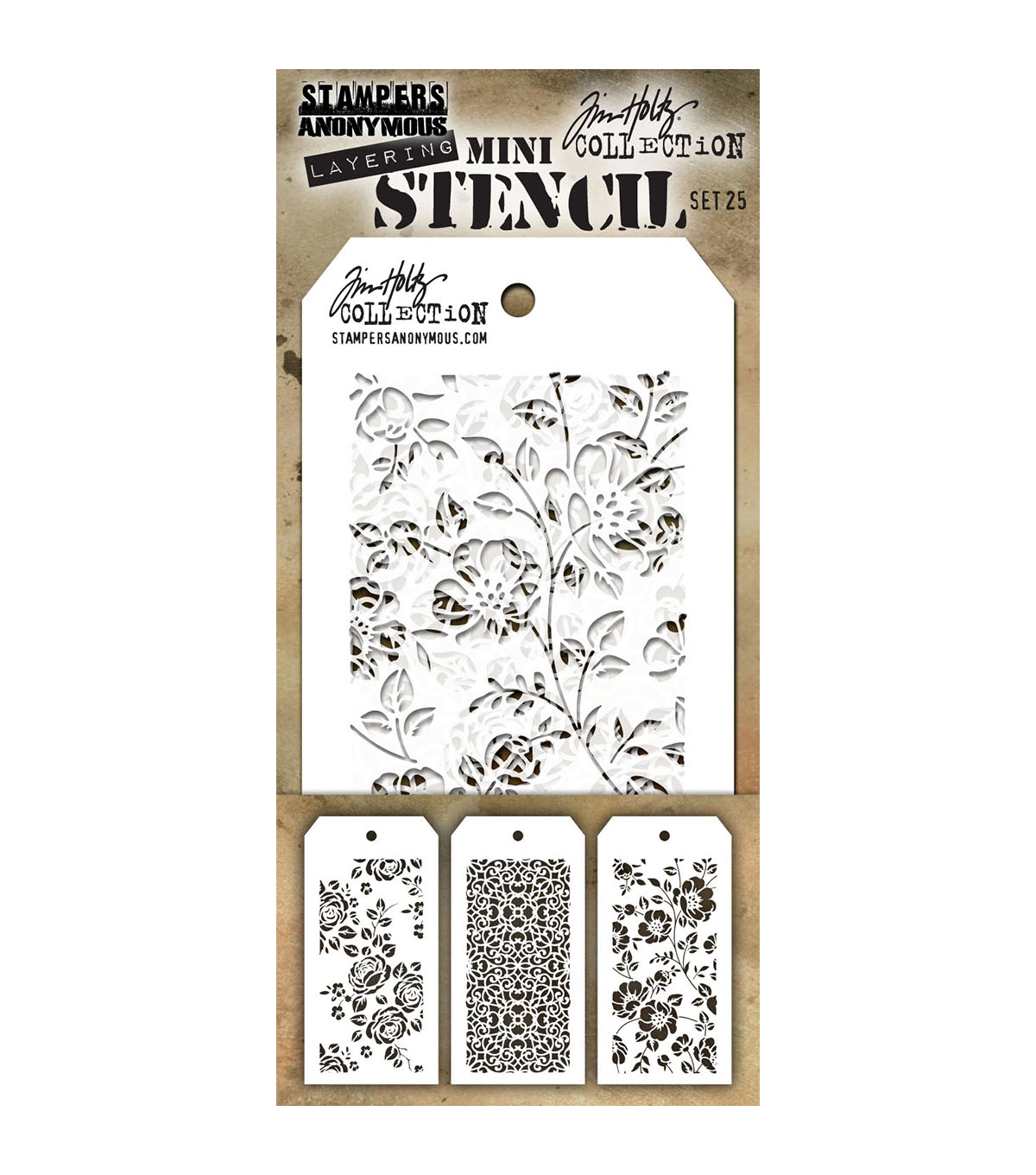 Tim Holtz Stampers Anonymous Linen Stencil