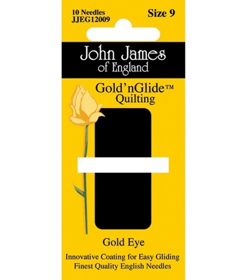 John James Gold\u0027n Glide Quilting Needles-Size 9