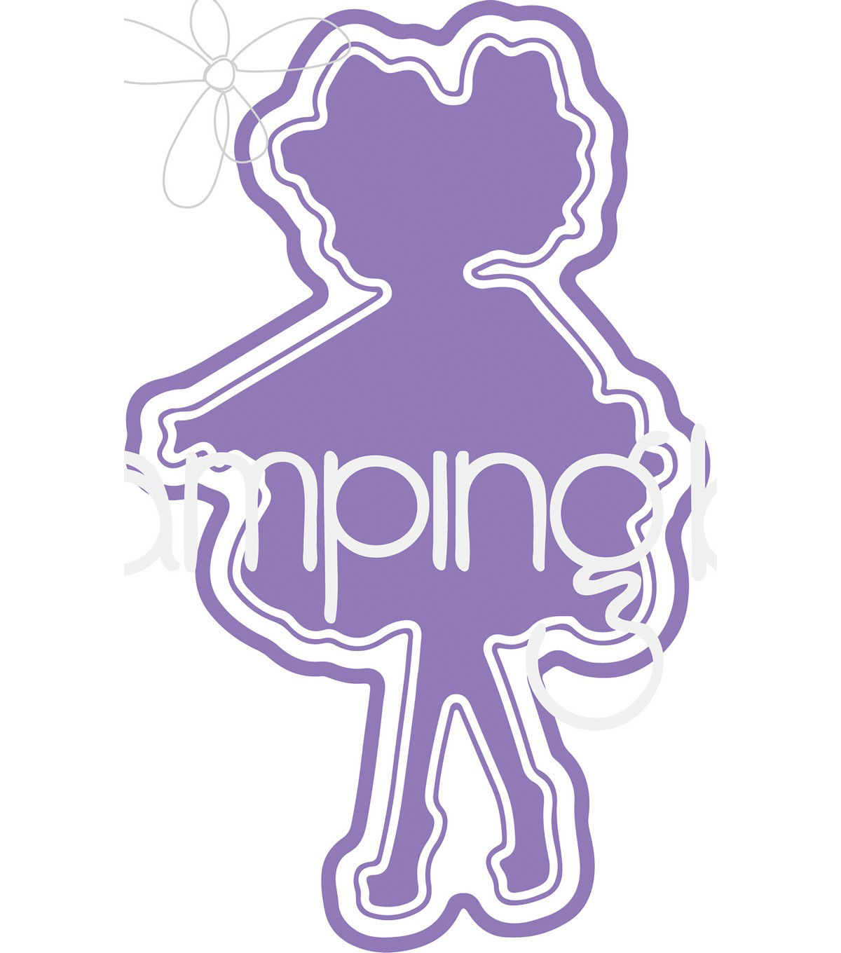 Stamping Bella Cut It Out Dies-Tiny Townie Garden Girl Violet