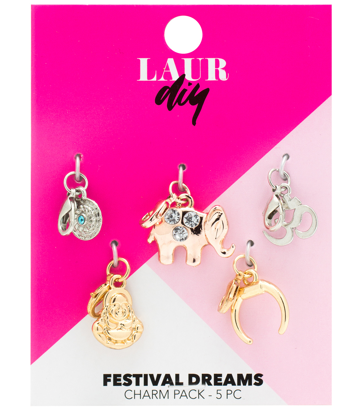 LaurDIY 5 pk Festival Dreams Charms