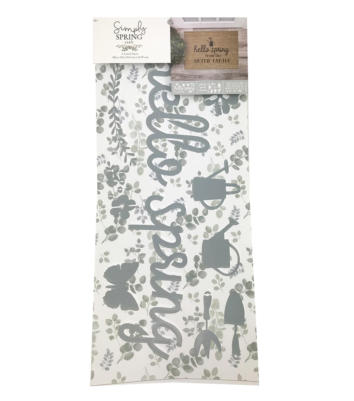 Simpy Spring Craft 3pk Stencil Sheets-Hello Spring