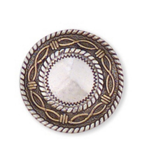 Leather Factory 1\u0022 Angel Fire Round Concho-1PK/Silver Screwback