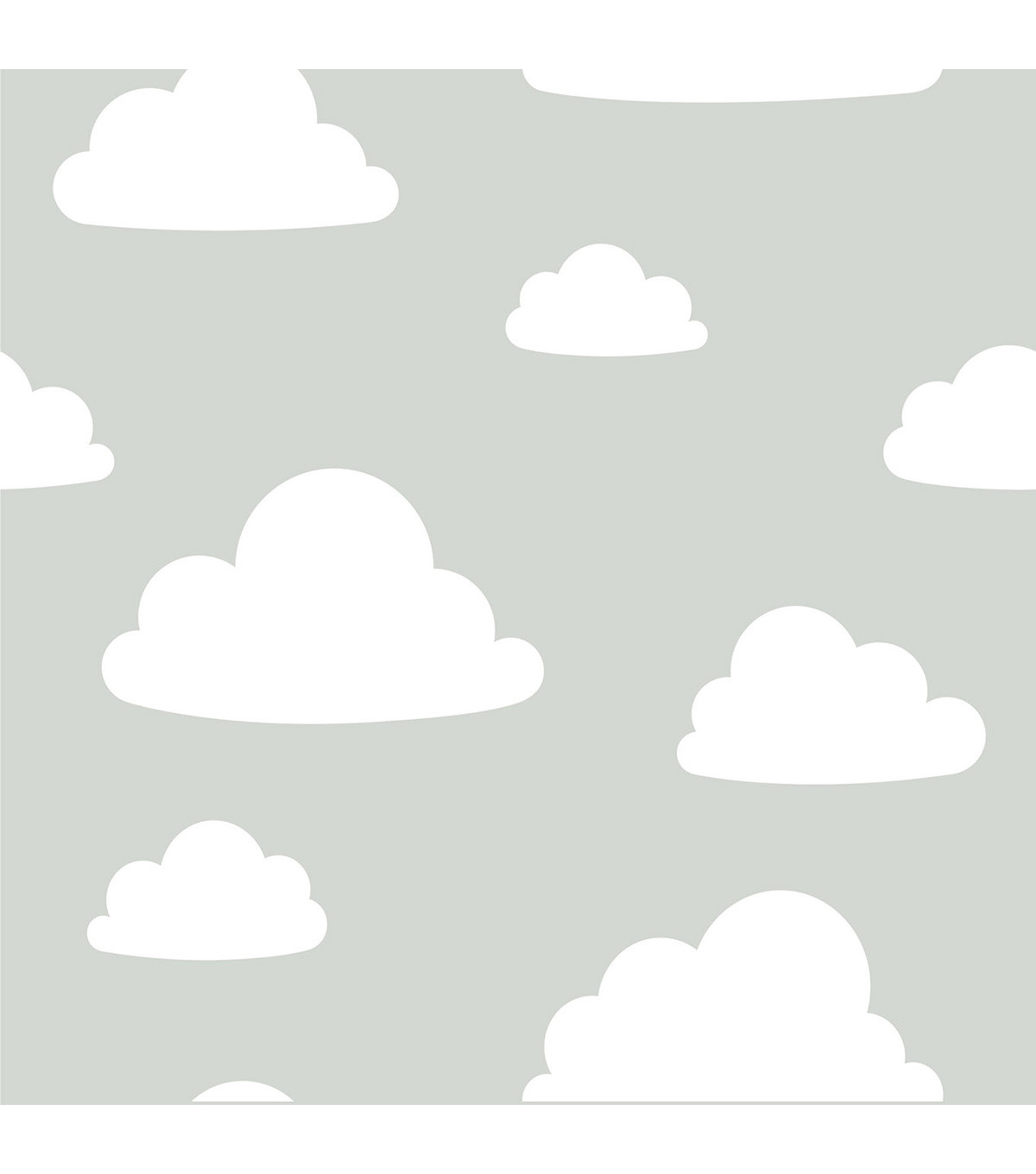 Wallpops Nuwallpaper Peel & Stick Wallpaper-Clouds on Gray