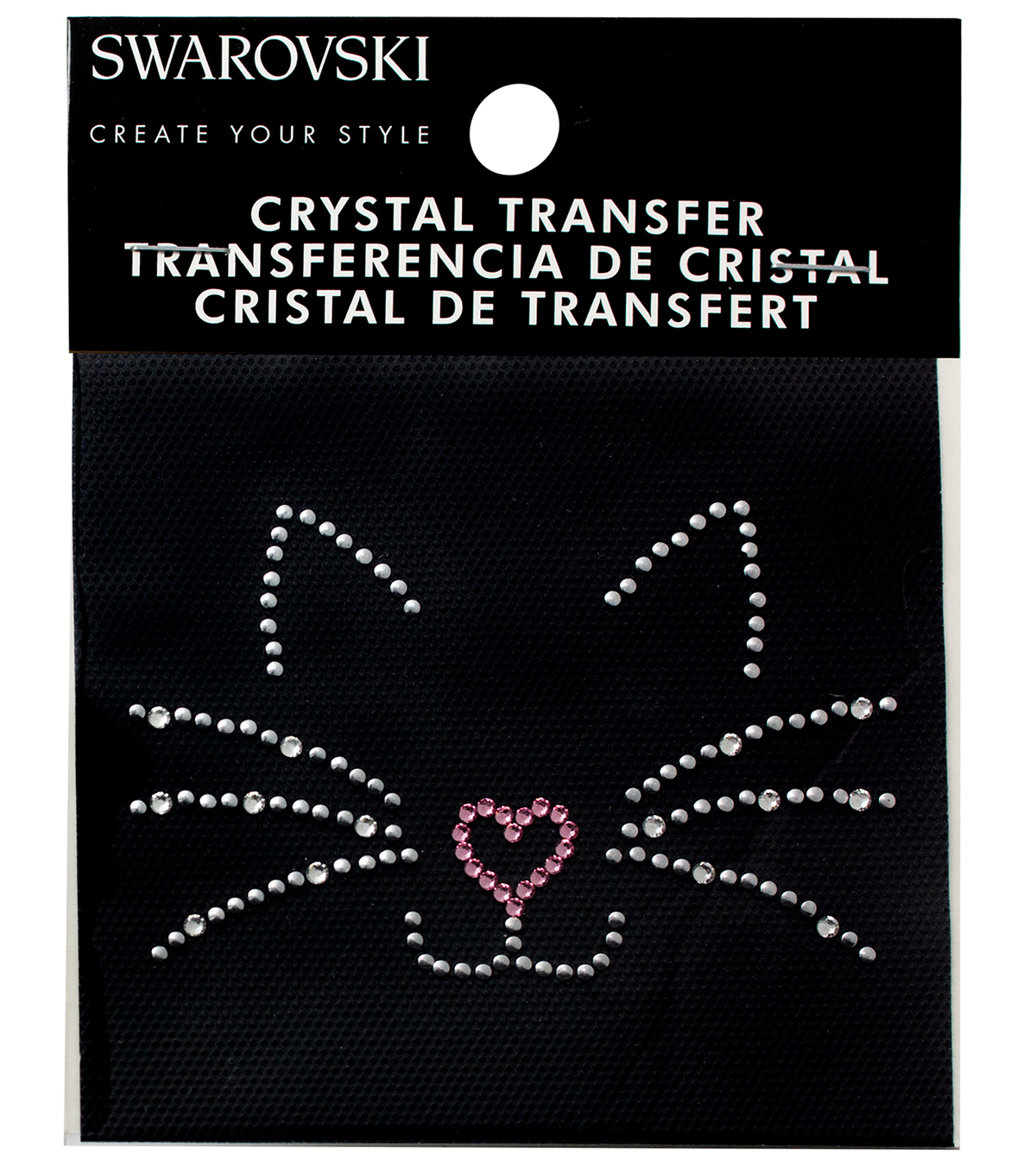 Swarovski Create Your Style Cat Crystals Iron-on Transfer