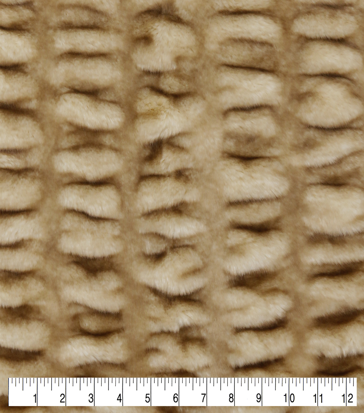 Fashion Faux Fur Fabric-Rouched Cream